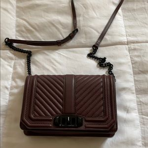 Rebecca Minkoff Maroon and Black Chain Bag